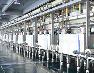 Fully automatic VCP plating line